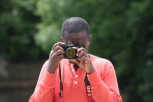 eddie with canon camera